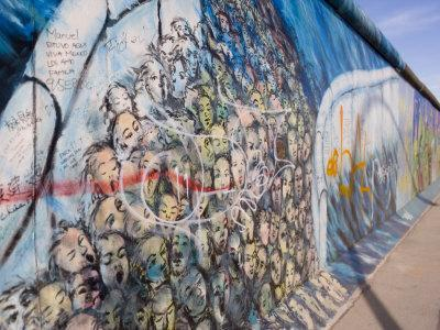 View From Former East Berlin Of A Section Of Berlin Wall, Berlin, Germany By