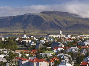 View from the Perlan of Colourful Houses, Reykjavik, Iceland by Gavin Hellier