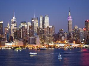 View of Midtown Manhattan across the Hudson River, Manhattan, New York City, New York, United State by Gavin Hellier