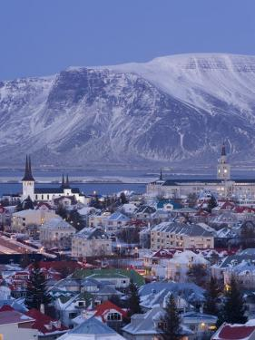 View over Reykjavik in Winter, Iceland by Gavin Hellier