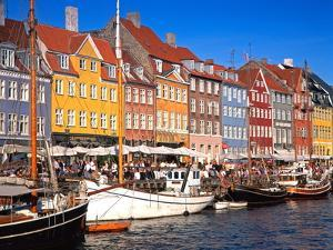 Waterfront District, Nyhavn, Copenhagen, Denmark, Scandinavia, Europe by Gavin Hellier