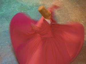 Whirling Dervishes, Performing the Sema Ceremony, Istanbul, Turkey by Gavin Hellier