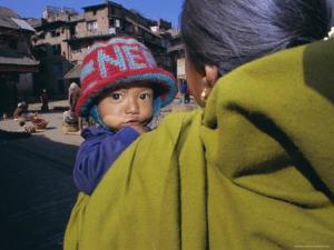 Woman and Child, Kathmandu, Nepal, Asia by Gavin Hellier