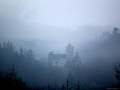 Bran Castle, Dracula's Castle, in Fog, Transylvania