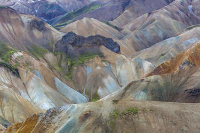 Landscape of a Mountain Range Through Landmannalaugar, Iceland by Gavriel Jecan