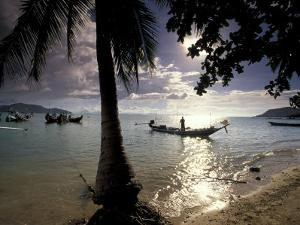 Seascape and Boats, Ko Samui Island, Thailand by Gavriel Jecan