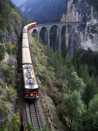 Tall Rock Bridge, Bernina, Switzerland by Gavriel Jecan
