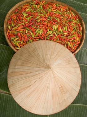 Thai Chile Peppers and Traditional Hat, Isan Region, Thailand by Gavriel Jecan