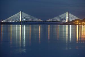 Bill Emerson Memorial Bridge, Cape Girardeau, Missouri, Mississippi River by Gayle Harper