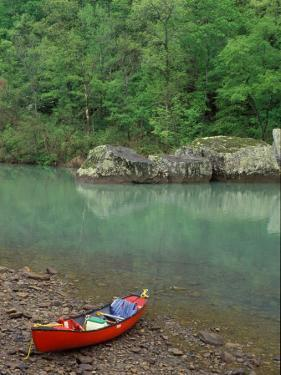 Canoe by the Big Piney River, Arkansas by Gayle Harper