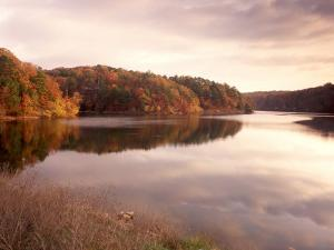 Fall Colors Reflected in Lake, Arkansas, USA by Gayle Harper
