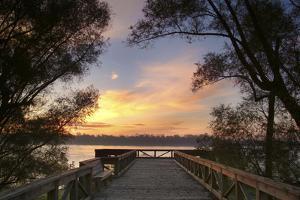 Overlook Mississippi River at Helena, Arkansas at sunrise by Gayle Harper