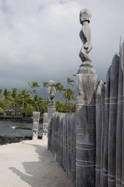 Pu'uhonua, Place of Refuge, Big Island, Hawaii, Tiki Gods by Gayle Harper