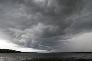 Storm over Lake Waukaunabo, Minneapolis by Gayle Harper