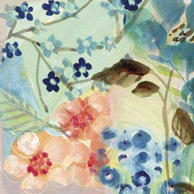 Blue Peach Floral II