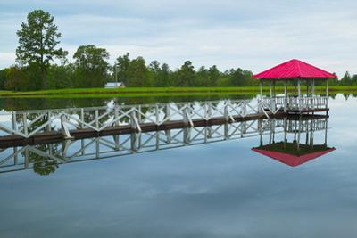 Gazebo with boat dock along Highway 22 in Central Georgia