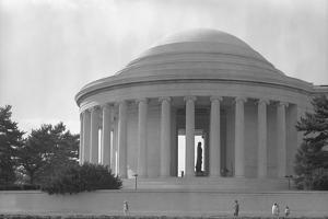 Jefferson Memorial with Profile of Statue of Jefferson by GE Kidder Smith