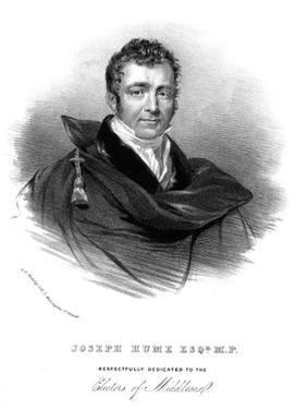 Joseph Hume by GE Madeley