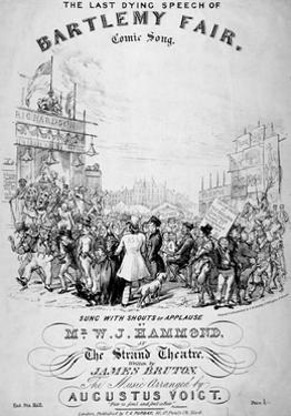 The Last Dying Speech of Bartlemy Fair, 1855 by GE Madeley