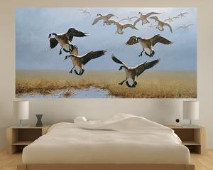 Geese Flying (Indoor/Outdoor) Vinyl Wall Mural
