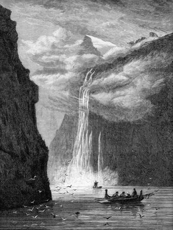 Geiranger Fjord, with the Seven Sisters Fall, Norway, 1882