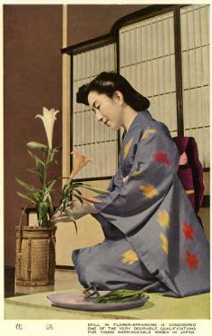 Geisha Doing Ikebana, Japan