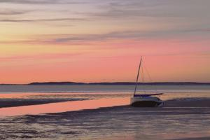 Boat in Cape Cod Bay at Sunrise by Gemma