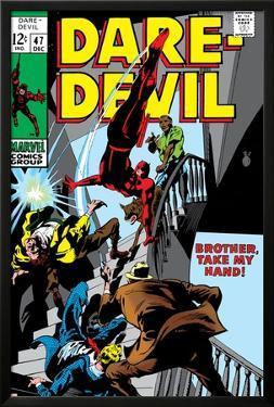 Daredevil No.47 Cover: Daredevil Swinging by Gene Colan