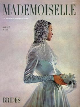 Mademoiselle Cover - April 1947 by Gene Fenn