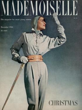 Mademoiselle Cover - December 1946 by Gene Fenn