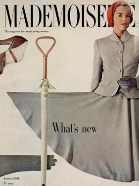 Mademoiselle Cover - January 1948 by Gene Fenn