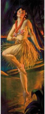 Firelight Hula, Hawaiian Pin-up Girl, c.1920s by Gene Pressler
