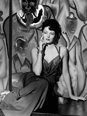 """Gene Tierney. """"The Shanghai Gesture"""" 1941, Directed by Josef Von Sternberg"""