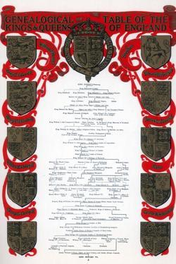 Genealogical Table of the Kings and Queens of England, 1902