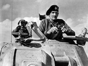 General Bernard Montgomery in His Grant Tank in North Africa