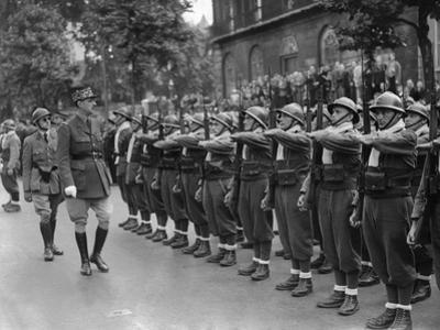 General Charles De Gaulle, Inspecting Free French Forces During Bastille Day Ceremonies in London