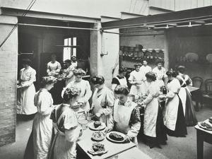 General Cookery Class, National Training School of Cookery, London, 1907