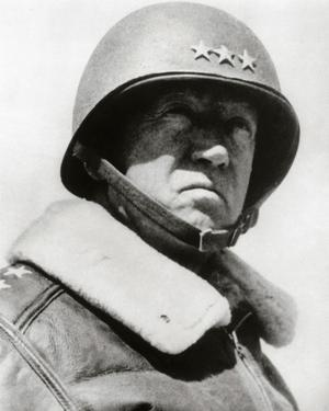 General George Patton in command of the US 7th Army in World War Two