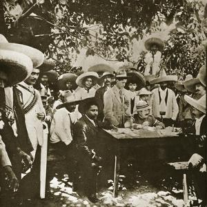 General Gonzalez Negotiating with Emiliano Zapata on Behalf of President Carranza