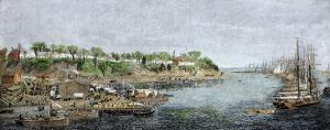 General Grant's Headquarters and Base of Supplies on the James River, c.1864