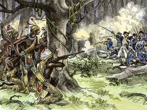 General Harmar Defeated by Miami Tribe Warriors in the Old Northwest Territory, c.1790