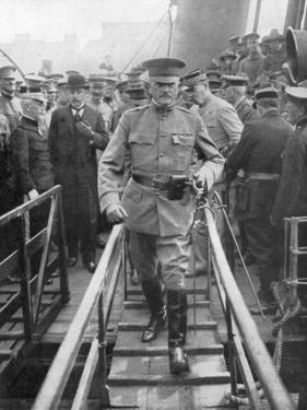 General John Joseph Black Jack Pershing Arriving in Boulogne, June 1917