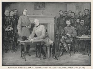 General Lee Surrenders to General Grant at Appomattox Court House