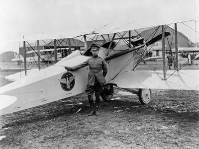 General Mitchell Standing by a VE-7 at Bolling Field Air Tournament, 1920