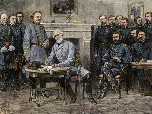 General Robert E. Lee Surrendering the Confederate Army to Union General Ulysses S. Grant, c.1865