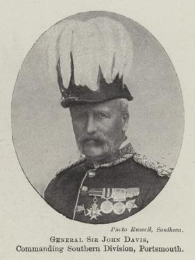 General Sir John Davis, Commanding Southern Division, Portsmouth