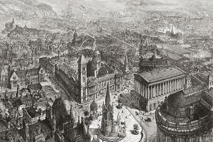 General View of Birmingham, West Midlands, England