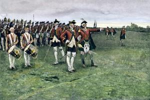 General Wolfe Assembling the British Army on the Plains of Abraham to Take Quebec, 1759
