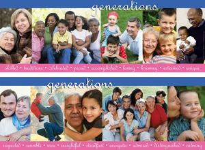 Generations, 2 part laminated poster set