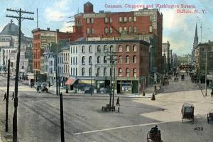 Genesse, Chippewa and Washington Streets, Buffalo, New York, USA, C1910